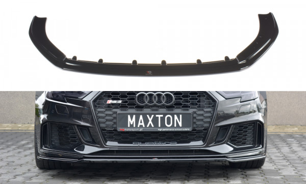 Front Ansatz V.2 passend für Audi RS3 8V FL Sportback schwarz Hochglanz