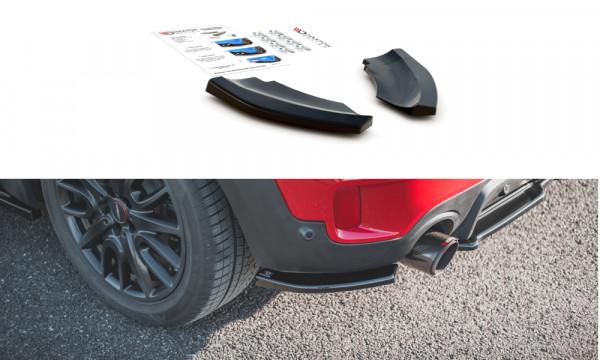 Heck Ansatz Flaps Diffusor passend für Mini Countryman Mk2 F60 JCW schwarz matt