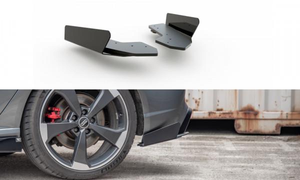 Rennen Haltbarkeit Heck Ansatz Flaps Diffusor passend für + Flaps Audi RS3 8V Sportback schwarz Hoch