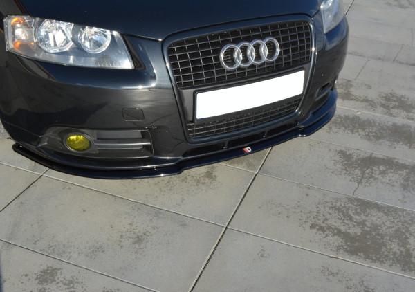 Front Ansatz passend für Audi A3 S-Line 8P schwarz Hochglanz