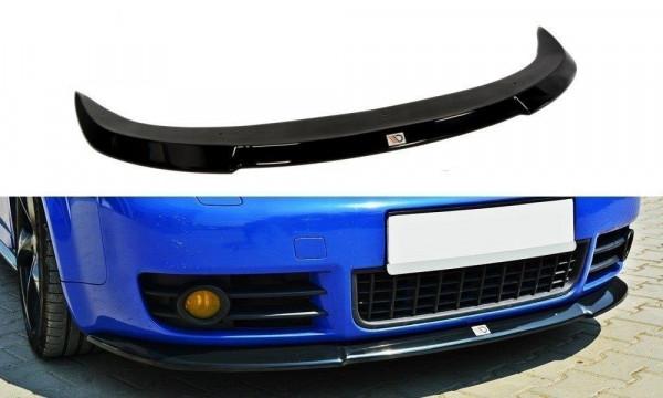 Front Ansatz für AUDI S4 B6 schwarz Hochglanz