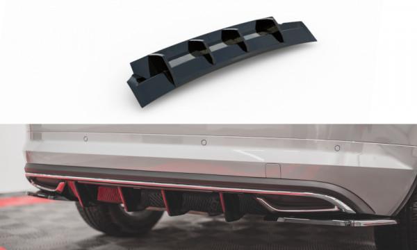Diffusor Heck Ansatz passend für Skoda Kodiaq Mk1 Sportline schwarz Hochglanz