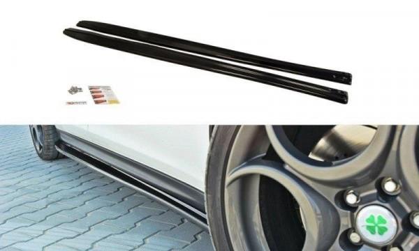 Seitenschweller für Ansatz Cup Leisten Alfa Romeo Giulietta schwarz matt