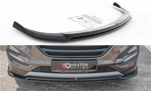 Front Ansatz passend für Hyundai Tucson Mk3 schwarz Hochglanz