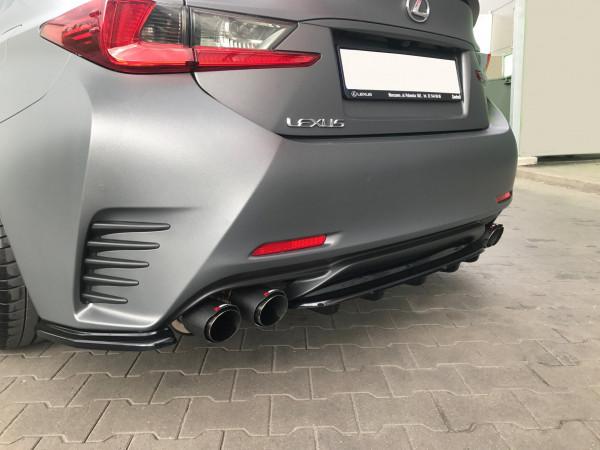 Mittlerer Diffusor Heck Ansatz passend für im DTM LOOK Lexus Rc schwarz Hochglanz