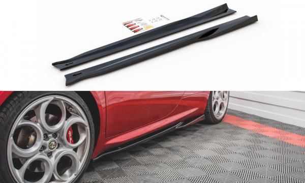 Seitenschweller Ansatz passend für Alfa Romeo 4C schwarz Hochglanz