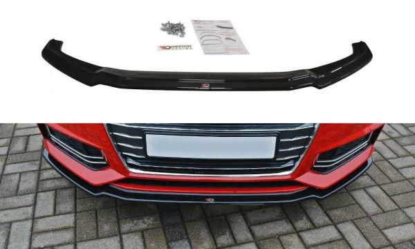 Front Ansatz V.1 passend für Audi S4 / A4 S-Line B9 schwarz Hochglanz