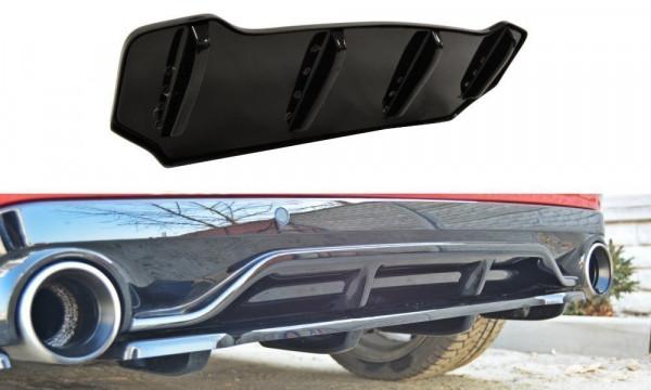 Mittlerer Diffusor Heck Ansatz für PEUGEOT 308 II GTI im DTM LOOK schwarz Hochglanz