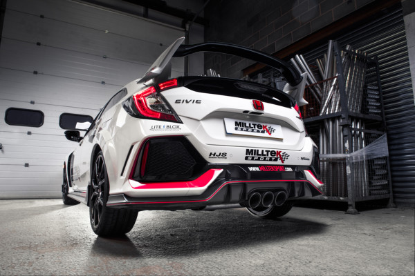 Milltek SSXHO250 Cat-back Triple 102mm JET-100 - Honda Civic Type R FK8 2.0 i-VTEC (Non OPF/GPF Mode