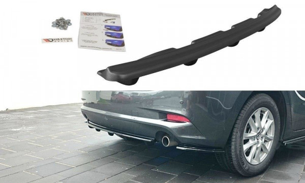 Mittlerer Diffusor Heck Ansatz für Mazda 3 BN (Mk3) Facelift DTM LOOK schwarz Hochglanz