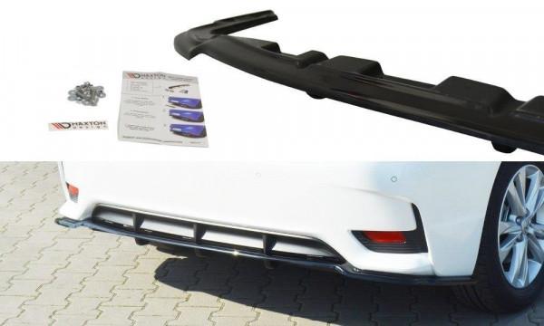 Mittlerer Diffusor Heck Ansatz für Lexus CT Mk1 Facelift DTM LOOK schwarz Hochglanz