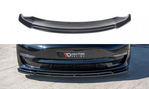 Front Ansatz V.2 passend für Tesla Model 3 schwarz Hochglanz