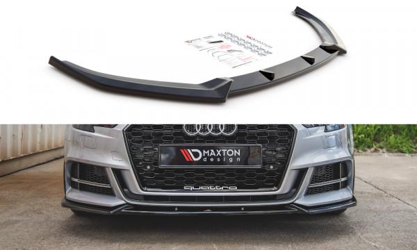 Front Ansatz V.3 passend für Audi S3 / A3 S-Line 8V Facelift schwarz matt