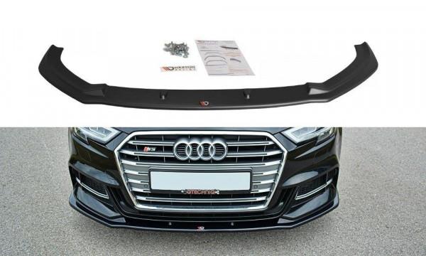 Front Ansatz passend für V.1 Audi S3 / A3 S-Line 8V FL schwarz Hochglanz