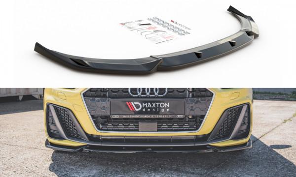 Front Ansatz V.3 passend für Audi A1 S-Line GB schwarz Hochglanz