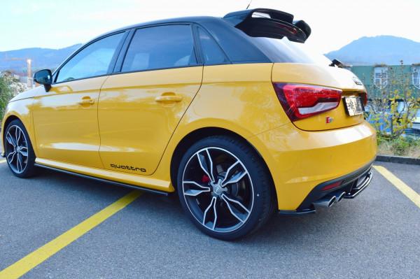 Seitenschweller Ansatz passend für Audi S1 8X schwarz matt