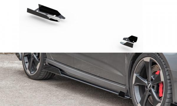 Side Flaps Audi RS3 8V Sportback schwarz Hochglanz