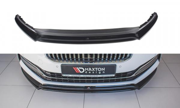 Front Ansatz V.3 passend für Skoda Superb Mk3 FL Carbon Look