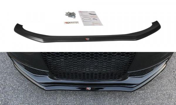 Front Ansatz V.1 passend für Audi S4 / A4 S-Line B8 FL schwarz matt