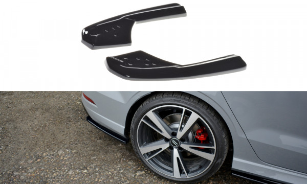 Splitter / Diffusor Heck Ansatz passend für Audi RS3 8V FL Sedan schwarz Hochglanz