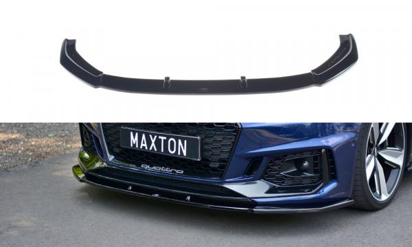 Front Ansatz V.1 passend für Audi RS4 B9 schwarz Hochglanz