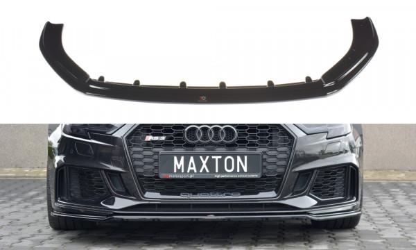 Front Ansatz V.2 passend für Audi RS3 8V FL Sportback schwarz matt