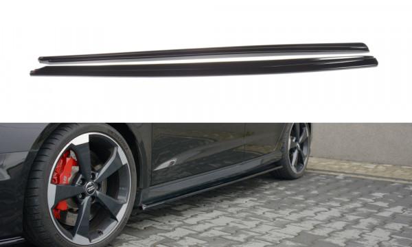 Seitenschweller Ansatz passend für Audi RS3 8V FL Sportback schwarz matt