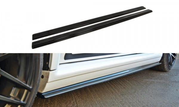 Seitenschweller für Ansatz Cup Leisten AUDI RS4 B5 schwarz Hochglanz