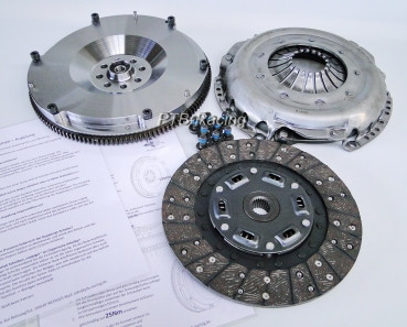 Clutch kit with organic friction disc for Audi 5-cylinder 20V Turbo + Sachs Performance pressure plate