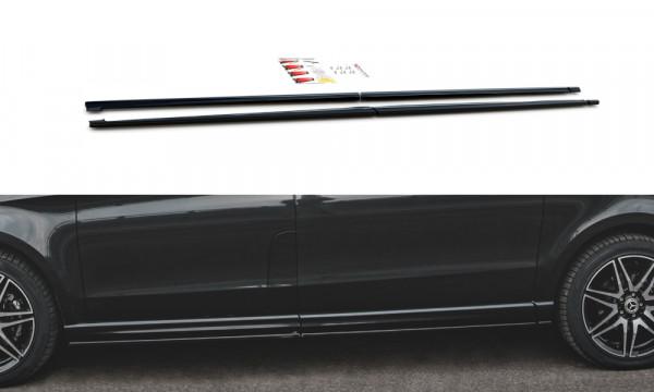 Seitenschweller Ansatz passend für Mercedes-Benz V-Klasse AMG-Line W447 Facelift schwarz Hochglanz