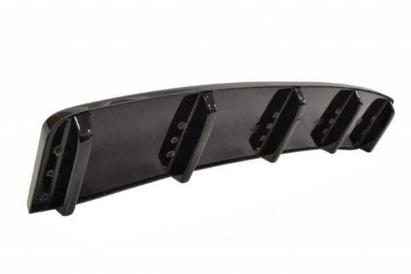 Mittlerer Diffusor Heck Ansatz für Audi A7 S-Line C7 FL im DTM LOOK schwarz matt