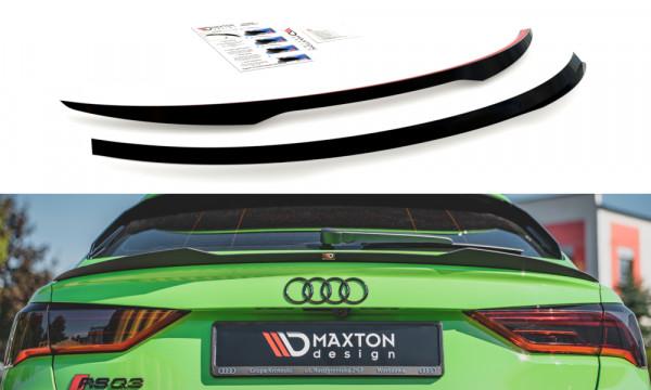 Spoiler CAP passend für Audi RSQ3 Sportback F3 schwarz Hochglanz