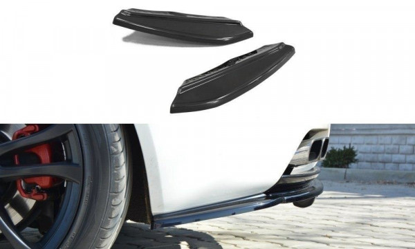Heck Ansatz Flaps Diffusor für Alfa Romeo Brera Carbon Look