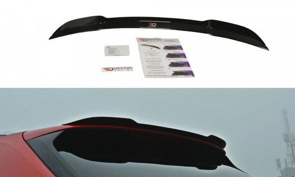 Spoiler CAP passend für Audi S4 / A4 S-Line B9 Avant schwarz matt