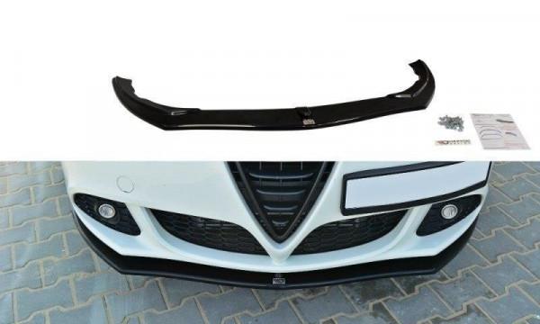 Front Ansatz für v.1 Alfa Romeo Giulietta schwarz Hochglanz