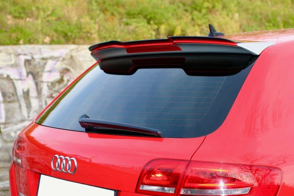 Spoiler CAP passend für Audi RS3 8P schwarz matt