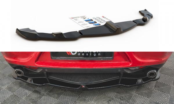 Mittlerer Diffusor Heck Ansatz passend für Alfa Romeo 4C schwarz Hochglanz