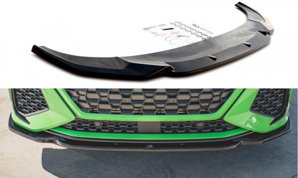 Front Ansatz V.1 passend für Audi RSQ3 F3 schwarz Hochglanz