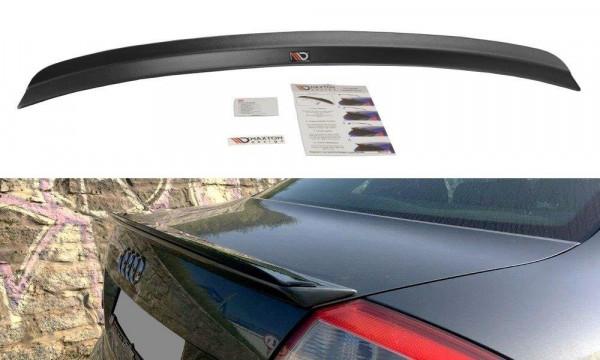 Spoiler CAP passend für Audi A4 S-Line B6 Sedan schwarz matt