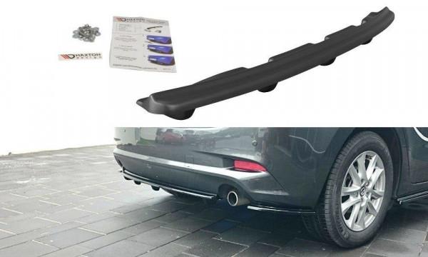 Mittlerer Diffusor Heck Ansatz für Mazda 3 BN (Mk3) Facelift DTM LOOK schwarz matt
