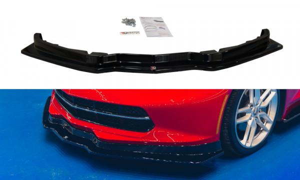 Front Ansatz passend für CHEVROLET CORVETTE C7 schwarz matt