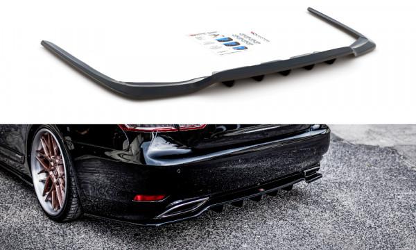 Mittlerer Diffusor Heck Ansatz passend für (mit einem vertikalem balken) Lexus LS Mk4 Facelift schwa
