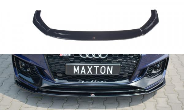 Front Ansatz V.2 passend für AUDI RS4 B9 schwarz matt