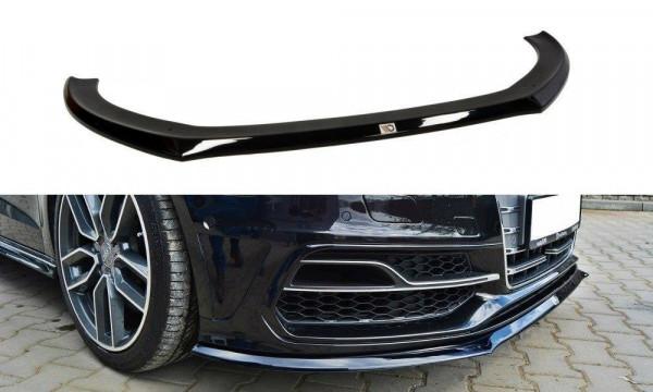 Front Ansatz für Audi S3 / A3 S-Line 8v Hatchback / Sportback schwarz Hochglanz