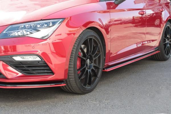 Seitenschweller Ansatz passend für v.3 passend für Seat Leon Mk3 Cupra FL schwarz Hochglanz schwarz