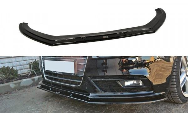 Front Diffuser V.1 Audi A4 B8 FL schwarz Hochglanz