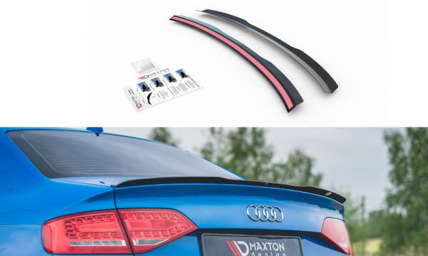 Spoiler CAP für Audi A4 / A4 S-Line B8 / B8 FL Sedan schwarz Hochglanz