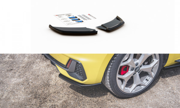 Heck Ansatz Flaps Diffusor passend für Audi A1 S-Line GB schwarz Hochglanz