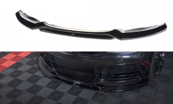 Front Ansatz V.1 passend für BMW 1er E82 FACELIFT M Paket schwarz Hochglanz