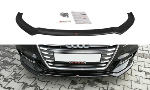 Front Ansatz für V.2 Audi S3 / A3 S-Line 8V FL schwarz Hochglanz